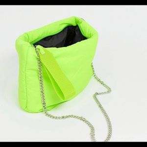 Neon Nylon Puff Clutch